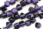 6MM Pyramid Shaped Czech Beads 2 Hole / Van Gogh Eggplant