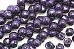 8MM X 8MM Mushroom Button Czech Beads / Van Gogh Eggplant
