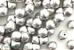 9MM X 8MM Mushroom Button Czech Beads / Silver