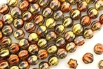 6MM Melon Shaped Czech Beads / California Gold Rush