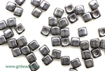 6/0 Cubix 4MM Czech Beads / Gunmetal