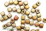 6/0 Cubix 4MM Czech Beads / Metallic Iris Mix