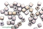 6/0 Cubix 4MM Czech Beads / Dark Gray
