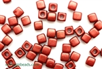 6/0 Cubix 4MM Czech Beads / Marsala