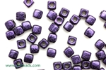 6/0 Cubix 4MM Czech Beads / Van Gogh Eggplant