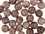 Vintage Czech Picasso Finish Beads / Round 12MM Purple