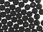 Black Matte Finish Czech Bead / Round 10MM