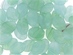 Vintage Green Matte Finish Czech Bead / Flat Oval 16MM X 11MM
