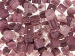Purple Matte Finish Czech Bead / Cube 6MM X 7MM