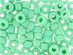 Czech Crow Beads / 6MM X 9MM Sea Foam Green