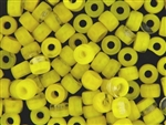 Czech Crow Beads / 6MM X 9MM Crystal Yellow