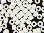 Czech Crow Beads / 6MM X 9MM White
