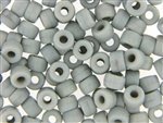 Czech Crow Beads / 6MM X 9MM Light Gray
