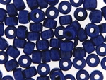 Czech Crow Beads / 6MM X 9MM Royal Blue