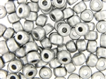 Czech Crow Beads / 6MM X 9MM Silver