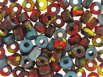 Vintage Czech Crow Beads / 6MM X 9MM Multi