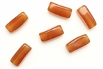 Bead, Czech, Rectangle, Glass, Vintage, 18MM, Medium Topaz
