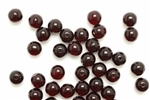 Bead, Czech, Round, Druk, Vintage, Glass, 8MM, Garnet