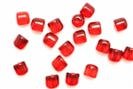 Bead, Czech, Gum Drop, Vintage, Glass, 8MM, Ruby