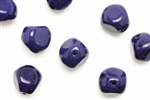 Bead, Czech, Pebble, Glass, Vintage, 16MM, Dark Blue