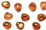 Bead, Czech, Nugget, Glass, Vintage, 18MM, Topaz Lustre