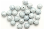 Bead, Czech, Round, Glass, Vintage, 10MM, Gray Picasso