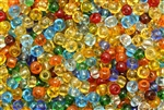 Bead, Czech, E-Bead, Mixed Color, Glass, 6MM