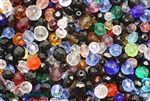 Bead, Czech, Mixed Shape Size And Color, Fire Polish, Glass, 4MM To 12MM