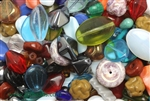 Bead, Czech, Vintage, Mixed Shape & Color, Glass, 8MM To 23MM