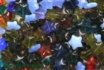 Bead, Czech, Stars, Mixed Color, Glass, 12MM