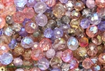 Bead, Czech, Mixed Shape Size And Color, Fire Polish, Glass, 4MM To 10MM