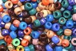 Bead, Czech, Crow, Roller, Mixed Color, Glass, 9MM