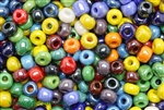 Bead, Czech, Crow, Mixed Color, Glass, 9MM
