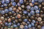 Bead, Czech, Rondelle, Mixed Color, Glass, 9MM