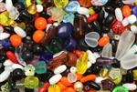 Bead, Czech, Mixed Shape Size And Color, Glass, 3MM To 15MM