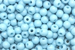 Bead, Czech, Vintage, Montessori Beads, Round, 7MM, Light Blue