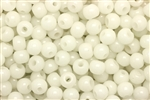 Bead, Czech, Vintage, Montessori Beads, Round, 7MM, Off White