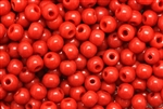 Bead, Czech, Vintage, Montessori Beads, Round, 7MM, Red