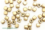 6/0 Cubix 4MM Czech Beads / Aztec Gold