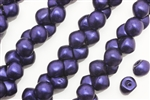 Bead, Mushroom Button, Czech Beads, 7MM, Purple Iris