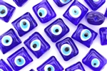 Bead, Glass, Evil Eye, 16MM, Pillow, Cobalt Blue