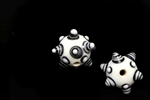 Evil Eye Bead / Ancient Egyptian Style 19MM Round White