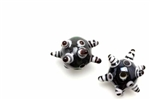 Evil Eye Bead / Ancient Egyptian Style 19MM Round Black