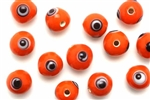 Bead, Evil Eye, Glass, Round, 10MM, Orange