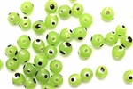 Bead, Evil Eye, Glass, Round, 6MM, Light Green