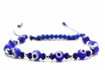Evil Eye Bead Shambala Bracelet / 6MM Round,Blue