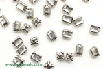 """Pewter"" Beads / 6MM Rectangle,Antique Silver"