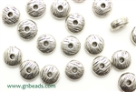 """Pewter"" Beads / 8MM Disc,Antique Silver"