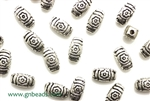 """Pewter"" Beads / 9MM Puffed Rectangle,Antique Silver"