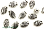 """Pewter"" Beads / 11.5MM Rectangle,Antique Silver"